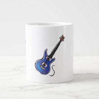 blue electric guitar music graphic.png large coffee mug