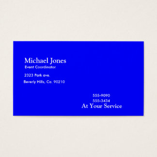 Blue Electric Guitars, Drums & Speakers Business Card