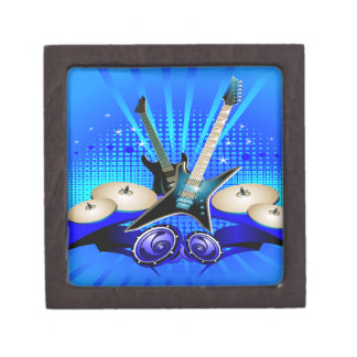 Blue Electric Guitars, Drums & Speakers Gift Box