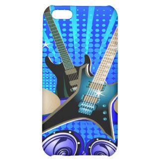 Blue Electric Guitars, Drums & Speakers iPhone 5C Cases
