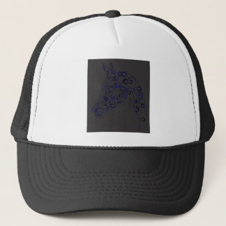 blue Electric Trucker Hat