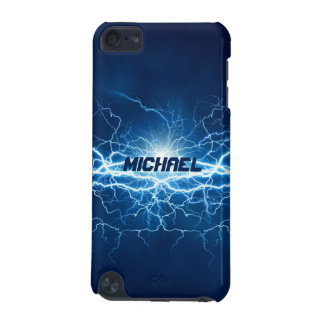 Blue Electricity Lightning | Personalized iPod Touch 5G Cover