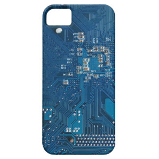 blue electronic circuit board computer pattern iPhone SE/5/5s case