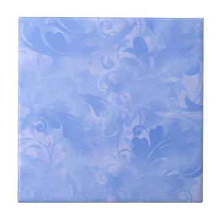 Blue Elegance Aqua Subtle Winter Azure Sapphire Ceramic Tile