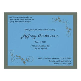 Blue Elegance Baby Shower Invitation