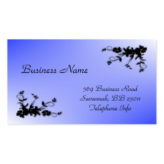 Blue Elegant Business Card