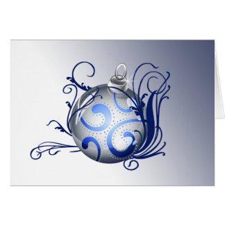 blue elegant Christmas Greeting Cards