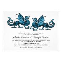 Blue Elegant Dragon Wedding Invite