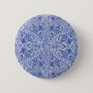 Blue Elegant flow Pattern Button