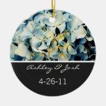 Blue Elegant Hydrangea Wedding Ornament