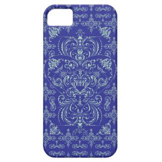 Blue Elegant Lace Heart Pattern iPhone 5 Case