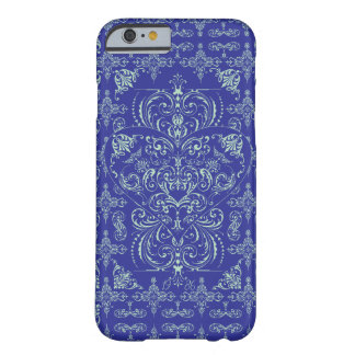 Blue Elegant Lace Heart Pattern iPhone 6 case