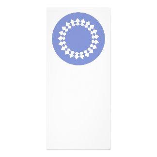 Blue Elegant Round Design. Art Deco Style. Rack Card