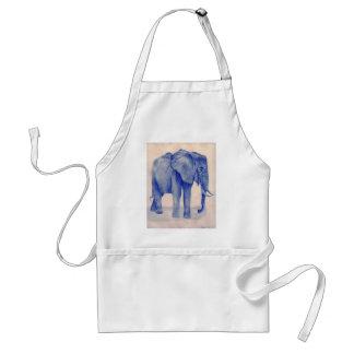 Blue Elephant Adult Apron