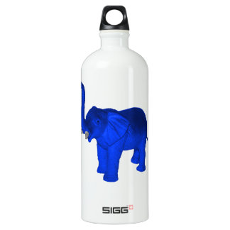 Blue Elephant Aluminum Water Bottle