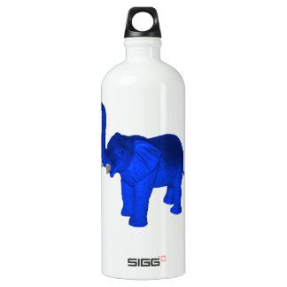 Blue Elephant Aluminum Water Bottle