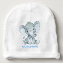 Blue Elephant Baby Beanie Newborn Baby Boy