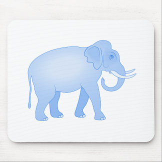 Blue Elephant Baby Boy Mouse Pad
