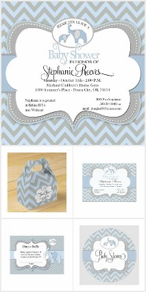 Blue Elephant Baby Collection