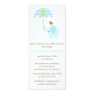 Blue Elephant Baby Shower Card