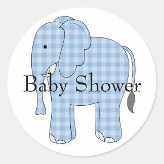 Blue Elephant Baby Shower Envelope Seal
