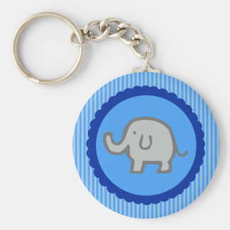 Blue Elephant Baby Shower Keychain Favors