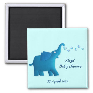 blue elephant baby shower refrigerator magnets
