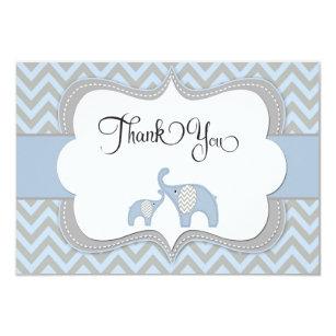 elephant thank you baby shower rsvp cards templates zazzle