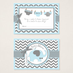 Blue Elephant Bird And Diaper Raffle Ticket at Zazzle