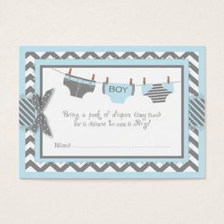 Blue Elephant Bird and Diaper Raffle Ticket