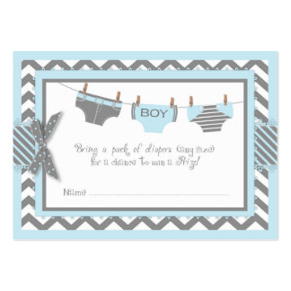 Blue Elephant Bird and Diaper Raffle Ticket Large Business Card