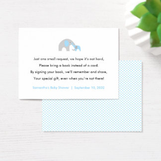 Blue Elephant Book request / books for baby Business Card