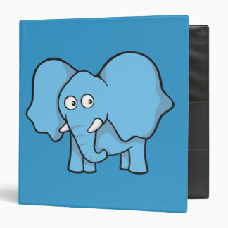 Blue elephant cartoon binder