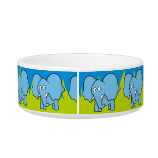 Blue elephant cartoon bowl