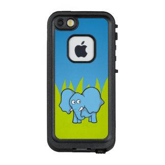 Blue elephant cartoon LifeProof® FRĒ® iPhone 5 case