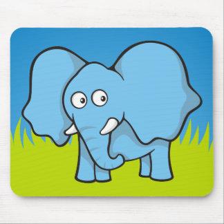 Blue elephant cartoon mouse pad