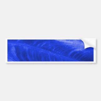 Blue Elephant Ear Texture Bumper Sticker