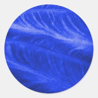 Blue Elephant Ear Texture Classic Round Sticker
