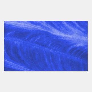 Blue Elephant Ear Texture Rectangular Sticker
