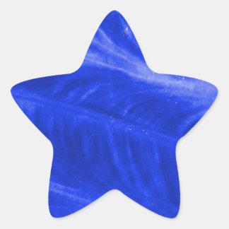 Blue Elephant Ear Texture Star Sticker