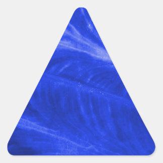 Blue Elephant Ear Texture Triangle Sticker