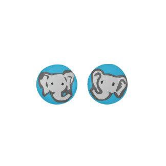 Blue Elephant Earrings