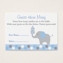 Blue Elephant Guess How Many Cards