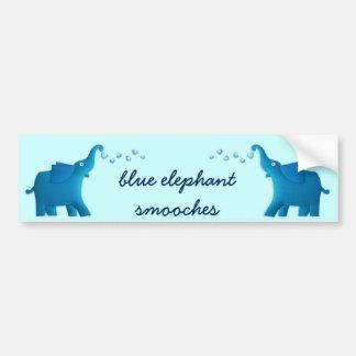 blue elephant heart car bumper sticker
