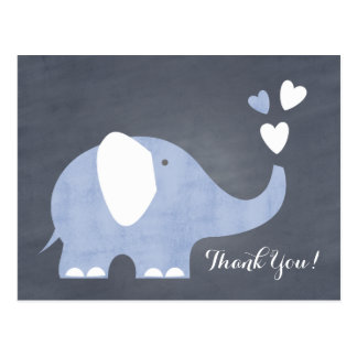 Blue Elephant Heart Postcard