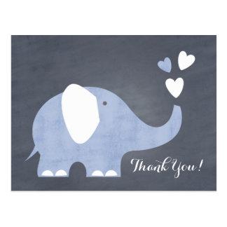 Blue Elephant Heart Postcard
