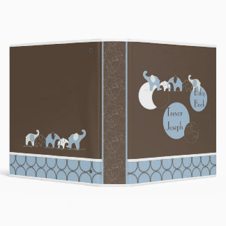 Blue Elephant in a Row Photo Album 3 Ring Binders