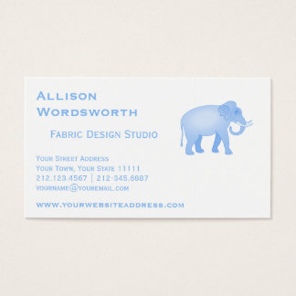 Blue Elephant - Indian Elephant - Baby Boy Business Card