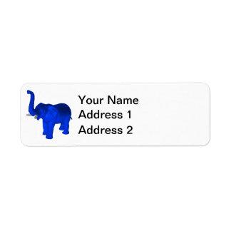 Blue Elephant Label