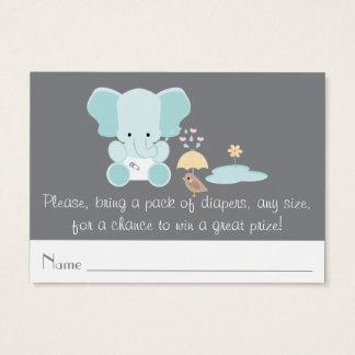 Blue Elephant Little Bird Diaper Raffle Tickets